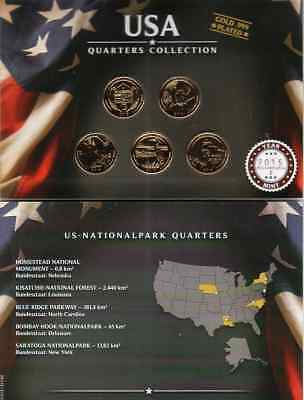 Quarters Collection  2015 / US Nationalparks / Gold Plated