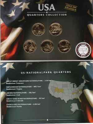 Quarters Collection  2014 / US Nationalparks / Gold Plated