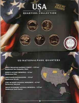 Quarters Collection  2013 / US Nationalparks / Gold Plated