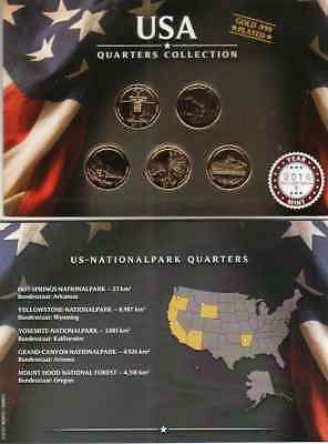 Quarters Collection  2010 / US Nationalparks / Gold Plated