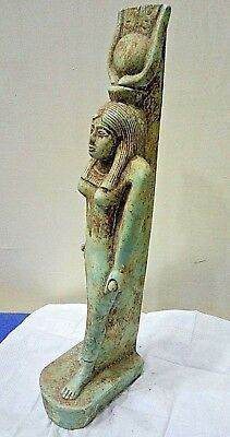 ANCIENT EGYPTIAN ANTIQUE ISIS Statue ٍStone 2686 - 2181 BCE
