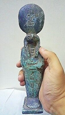 USHABTI ANCIENT EGYPTIAN ANTIQUE HORUS Stone Statue 1850-1760 BC