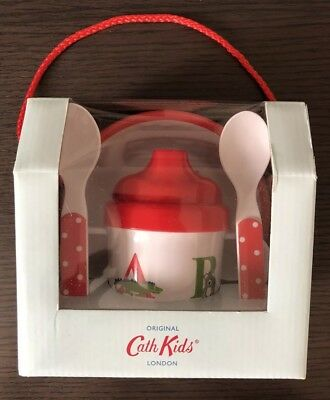 Cath Kidston kids Nursery Dining Set Baby Weaning Cup Bowl Fork Spoon New