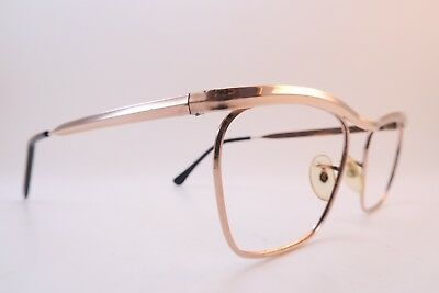 Vintage gold filled eyeglasses frames ALGHA 50-20 made in England *****