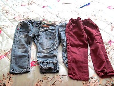 next 3 pairs baby boys jeans size 12-18 months