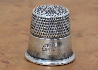 Antique-Sterling-Silver-Thimble-Number-9