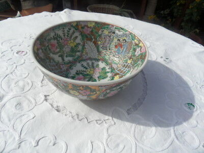 oriental family rose bowl -- no 4 on the base