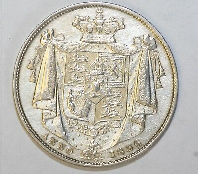1836 William IV Sterling Silver Halfcrown Good Extremely Fine Condition