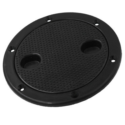"""4"""" Screw Out Deck Plate Access Hatch Cover Black Plastic for Boat Cabin"""