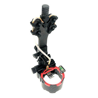 Right Hand 5 Pins .019 Fiber Optic Compound Bow Sight with Micro Adjustments