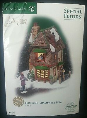 Dept,  Department 56 Dickens Village Series Belle's House LE 171/500 **RARE**