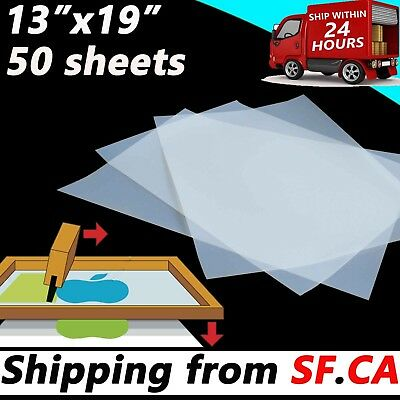 13 x 19,50 Sheets,Waterproof Inkjet Transparency Film for Silk Screen Printing