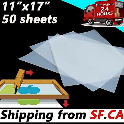 50 sheets,11 x 17,Waterproof Inkjet Transparency Positive Film Screen Printing