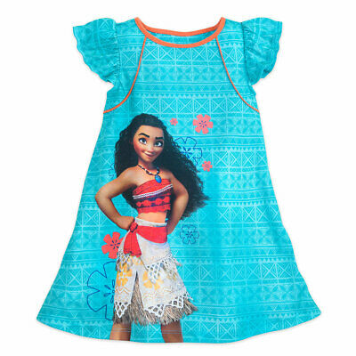 Disney Store Moana Nightgown Pajamas NWT Blue SS $6/30% Off Girls size 4,5/6,7/8