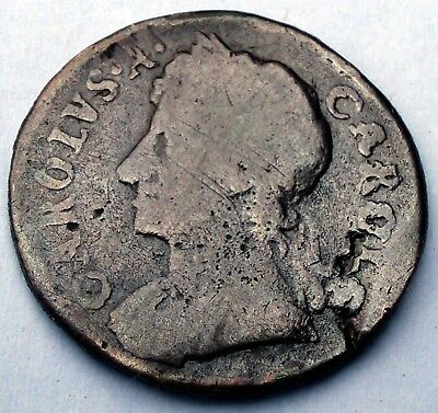 GREAT BRITAIN 1 FARTHING 1674 KM#436.1 Charles II O6.1