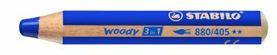 STABILO Multitalentstift woody 3 in 1, rund, blau