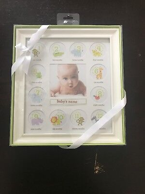 Stepping Stones Baby First 12 Months Picture Frame Wooden