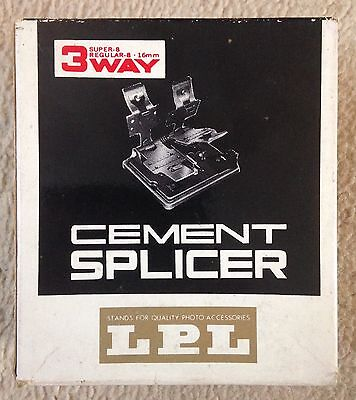 LPL Vintage Cinefilm Cement Splicer 3 Way Boxed