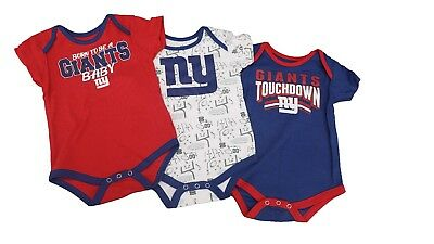 50ca7a02 NFL NEW YORK Giants Baby Infant Size 3 Piece Creeper with Boots ...