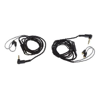 2Pack Twist Upgrade Earphone Cable Replacement for Shure SE315/425/535/UE900