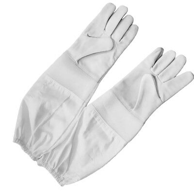 Gloves Beekeeping Bee Gloves Heavy Duty Leather Beekeeping Gloves White