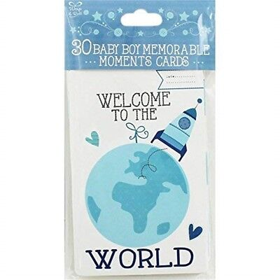 Eurowrap 30 Memorable Moments Cards - Baby Boy