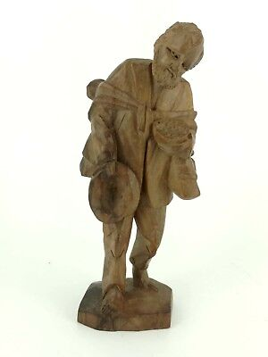 Vintage Hand Carved Wooden Figure Ecuador NICE piece