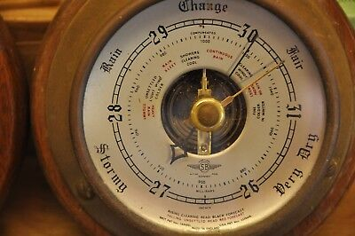 Ships Clock and barometer Brass