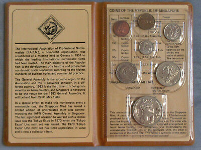 1983 Singapore Uncirculated 7pc Coin Mint Set