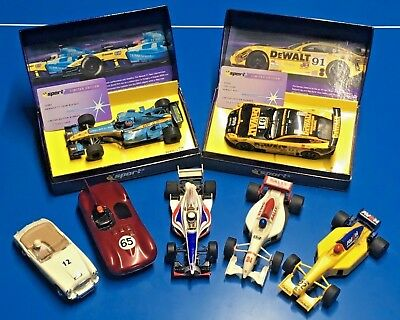 BULK LOT OF 7 Slot Cars - 5 Scalextric used & 2 new.