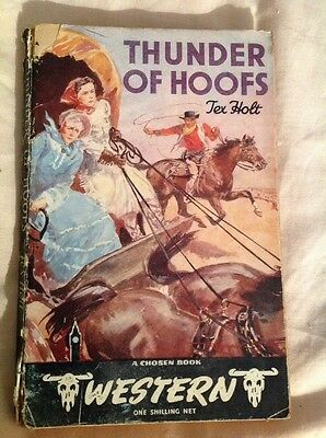 Thunder Of Hoofs By Tex Holt A Chosen Book Vintage Western Paperback 1949