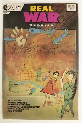P984. REAL WAR STORIES #1 From Eclipse Comics 5.5 FN- (1987) Copper Age `