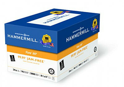 Hammermill Paper, Fore MP, 24lb, 8.5 x 11, Letter, 3 Hole Punched 5000 Shts