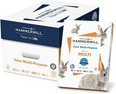 Hammermill Paper, Fore MP Paper, 20lb, A4, 210mm x 297mm, 96 Bright, 5000 Sheets