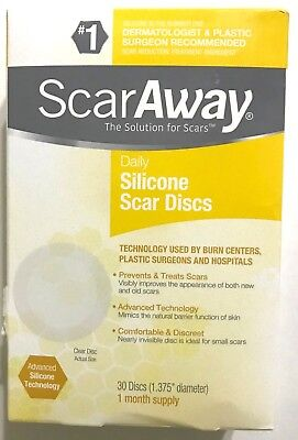 ScarAway Silicone Daily Discs Scar Away Fades New & Old Scars 30 Discs  Exp 2021
