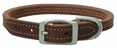 Terrain D.O.G. Oiled Harness Leather Hybrid Dog Collar with Wheat Stitching