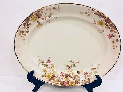 Antique Keeling K & CO B Late Mayers 1790 Flora Floral Large Oval Platter Tray