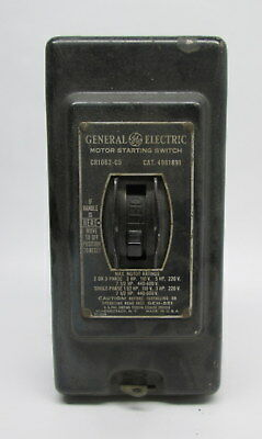 Vintage General Electric Motor Starting Switch CR1062-C5 W/ Box (101032)