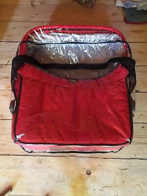 mountain buggy duo double bassinet red