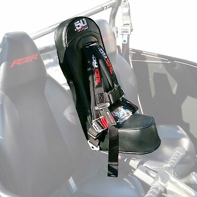 RZR Middle Bump Seat & Black 4 Point Safety Harness Kids Booster 570 800 XP900