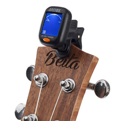 AT-101 AROMA Portable Clip Type Instrument Tuner For Guitar Bass Ukulele Durable