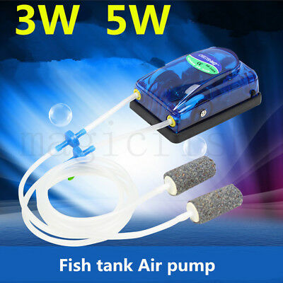 220V High Energy Efficient Aquarium Fish Tank Oxygen Air Pump Super Silent 3W/5W