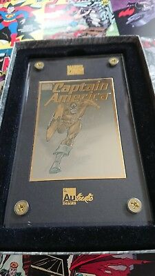 marvel 24k captain america gold card 198 of 1996 limited edition run.