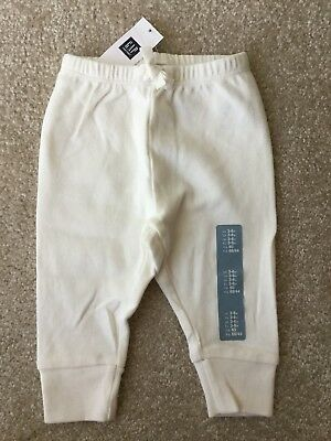 NWT Baby Gap 3-6 Mo. Ivory Gender Neutral Joggers Girl Boy Sweat Pants