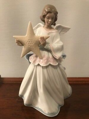 "Lladro ""angel Of The Stars"" (Le) #6132 Figurine ~ Tree Topper  ~ Mint"