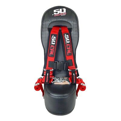 RZR Middle Bump Seat & RED 4 Point Safety Harness Kids Booster 570 800 XP900 UTV