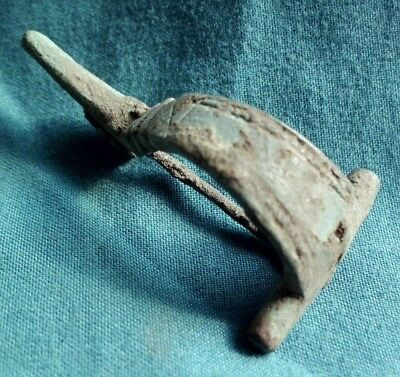 Ancient Celtic Bronze Decorated Fibula Brooch - 100 Bc - Rare