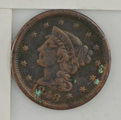 1848 Braided Hair Large Cent *276