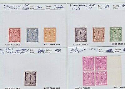 UK GB AIRMAIL Essays Cinderella stamps mint most are 1923 gum on most scarce lot