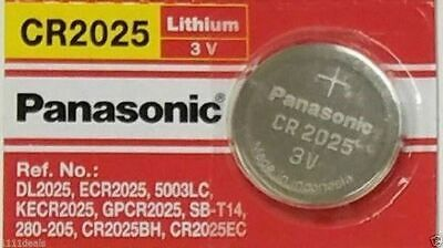 1 x Fresh PANASONIC CR 2025 CR2025 ECR2025 LITHIUM COIN CELL Battery Exp 2027